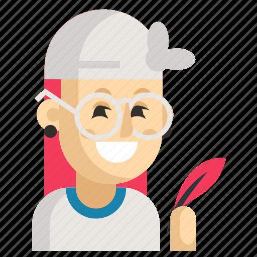 Asia, avatar, job, profession, woman, work, writer icon - Download on Iconfinder