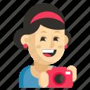 asia, avatar, job, photographer, profession, woman, work icon