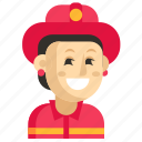 asia, avatar, firefighter, job, profession, woman, work