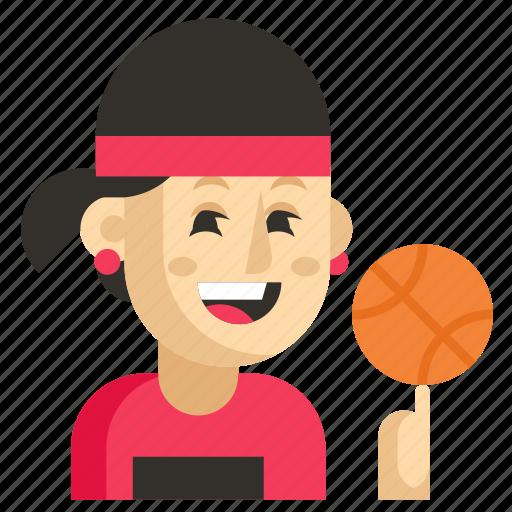 Asia, athlete, avatar, job, profession, woman, work icon - Download on Iconfinder