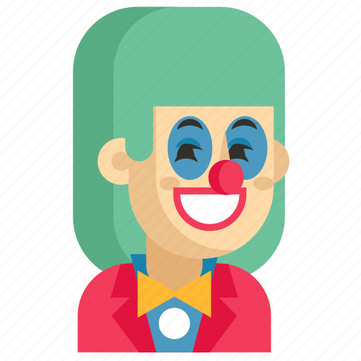 Asia, avatar, clown, job, profession, woman, work icon - Download on Iconfinder