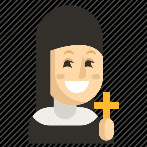 Asia, avatar, job, nun, profession, woman, work icon - Download on Iconfinder