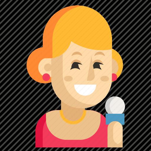 Asia, avatar, job, profession, showman, woman, work icon - Download on Iconfinder