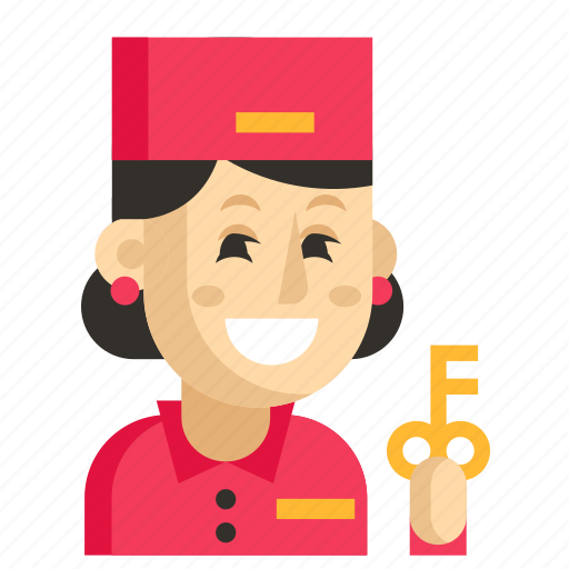 Asia, avatar, concierge, job, profession, woman, work icon - Download on Iconfinder