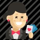 asia, avatar, job, magician, profession, woman, work