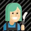 asia, avatar, barber, job, profession, woman, work