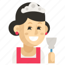 asia, avatar, job, maid, profession, woman, work icon