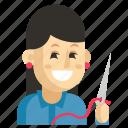 asia, avatar, job, profession, seamstress, woman, work