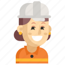 asia, avatar, job, profession, road worker, woman, work icon