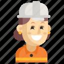 asia, avatar, job, profession, road worker, woman, work