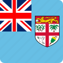 country, fiji, flag, flags, nation, national, oceania icon
