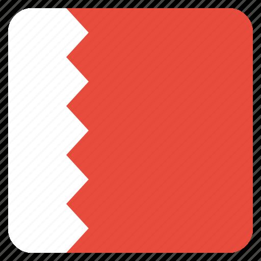 bahrain, country, flag, national icon