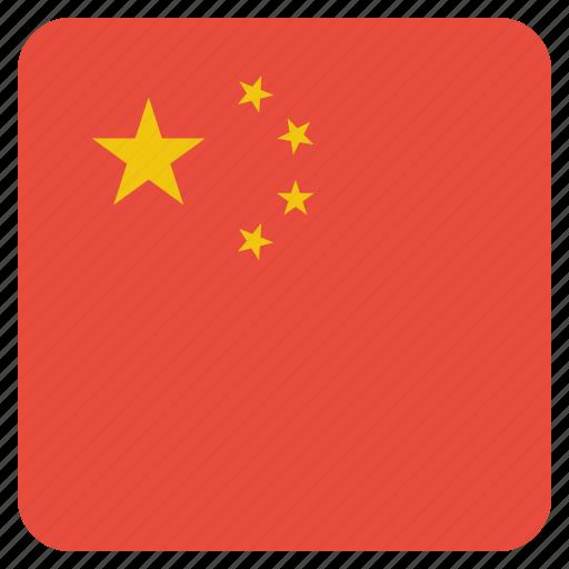 china, chinese, circle, flag icon