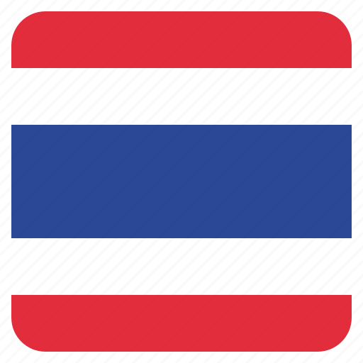 country, flag, national, thailand icon