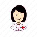 asian woman professions, emprego, enfermeira, job, mulher, nurse, professions, trabalho, work icon