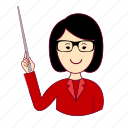 .svg, asian woman professions, emprego, job, mulher, professions, professora, teacher, trabalho, work icon