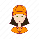 .svg, asian woman professions, emprego, gari, job, mulher, professions, street-sweeper, trabalho, work icon