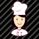 asian woman professions, chef, chefe de cozinha, emprego, job, mulher, professions, trabalho, work icon