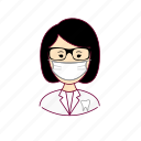 asian woman professions, dentes, dentist, dentista, emprego, job, mulher, professions, smile, sorriso, tooth, trabalho, work icon