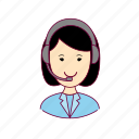 .svg, asian woman professions, emprego, job, mulher, professions, telefonista, telemarketing, trabalho, work icon