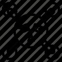 association, bond, filament, relationship, wire icon