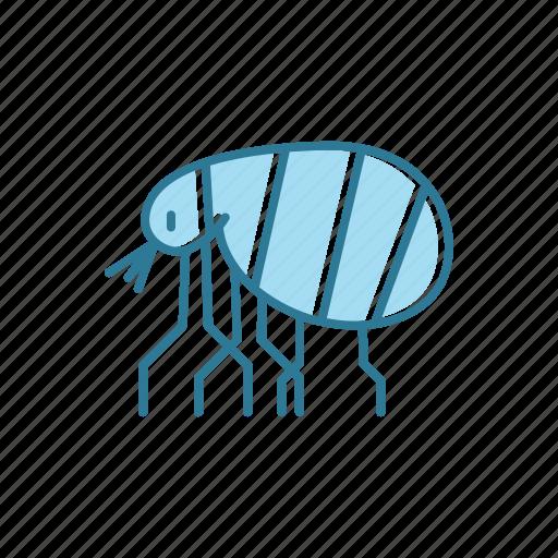 allergen, astma, flea, insect, line, thin icon