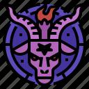 baphomet, demon, mythical, sabbatic icon