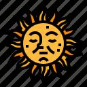 element, fortune, mystical, sun icon