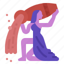 aquarius, fortune, horoscope, zodiac icon