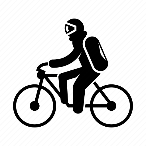 astronaut, bicycle, riding, spaceman icon