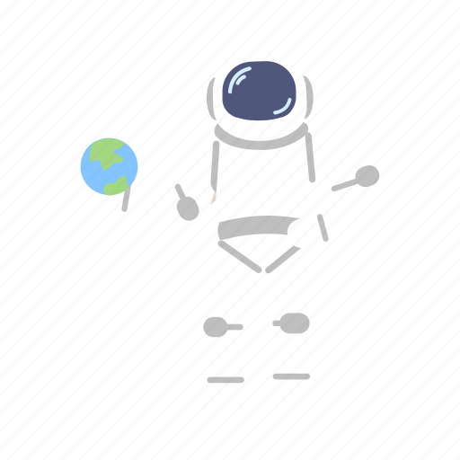 astro, astronaut, earth, globe, man, space, suit icon