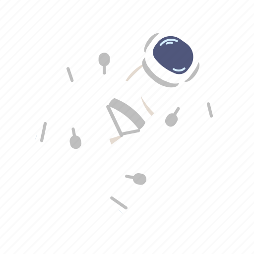 astro, astronaut, man, run, space, suit icon