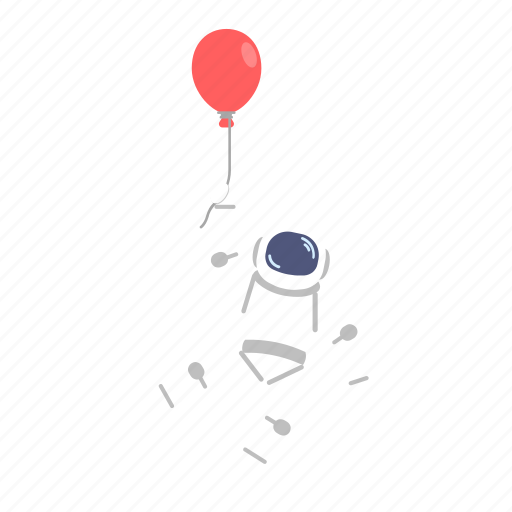 astro, astronaut, baloon, man, space, suit icon