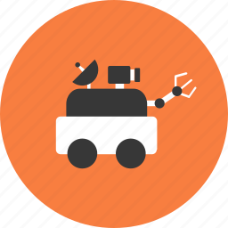 astronomy, car, discovery, droid, science, space, technology icon