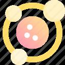 astronomy, circle, circuit, orbit, space, star