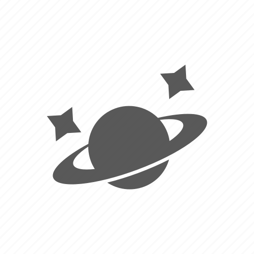 astronomy, saturn, space, stars icon
