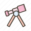 lens, science, space telescope, telescope icon