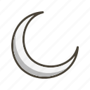 forecast, moon, new moon, night, weather icon