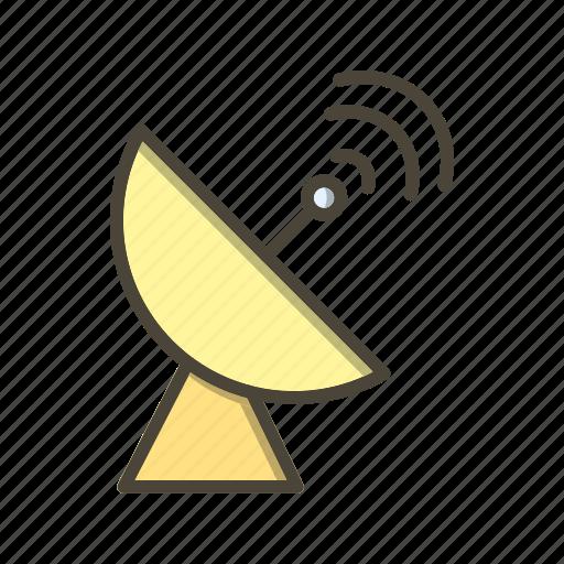 antenna, connection, dish, network, radar icon
