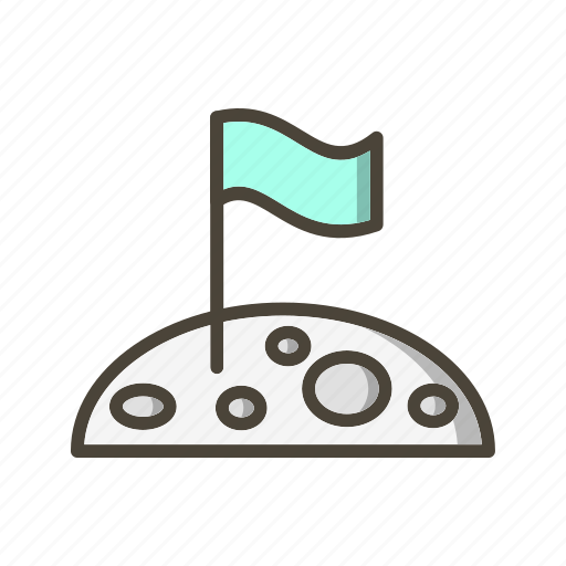 Flag, flag at moon, location icon - Download on Iconfinder