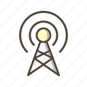 antenna, broadcast, communication, connection, interaction icon