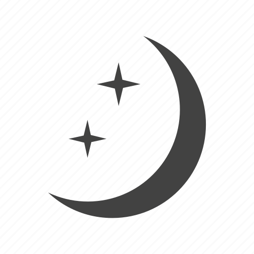 clouds, dark, moon, night, sky, space, stars icon