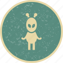 alien, avatar, monster, research icon