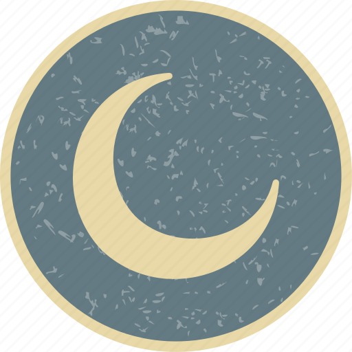 climate, moon, new moon, weather icon