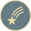 falling star, space, star icon