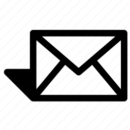 envelope, message, send, shadow icon
