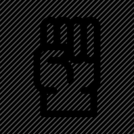 fist, glove, hand, power icon