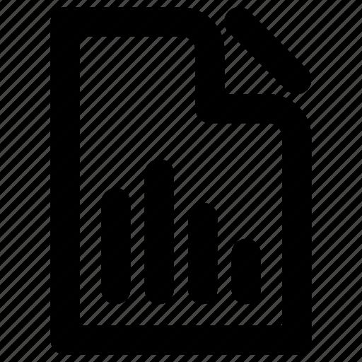 bars, graphic, paper, statistics, stick icon