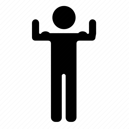 body, fitness, gym, human icon