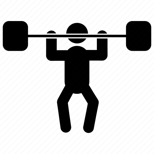 athlete, barbell, human, powerlifting, sport, training icon